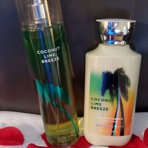 Bath and Body Works Coconut Lime Breeze set